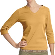 Royal Robbins Kickback Shirt - UPF 50+, 3/4 Sleeve (For Women) in Dark Daffodil - Closeouts