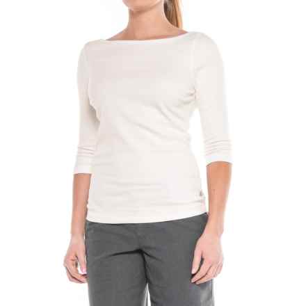 Royal Robbins Kickback to Front Shirt - UPF 50+, 3/4 Sleeve (For Women) in White - Closeouts