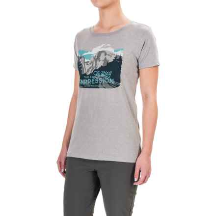 Royal Robbins Lasting Impression T-Shirt - Short Sleeve (For Women) in Grey - Closeouts