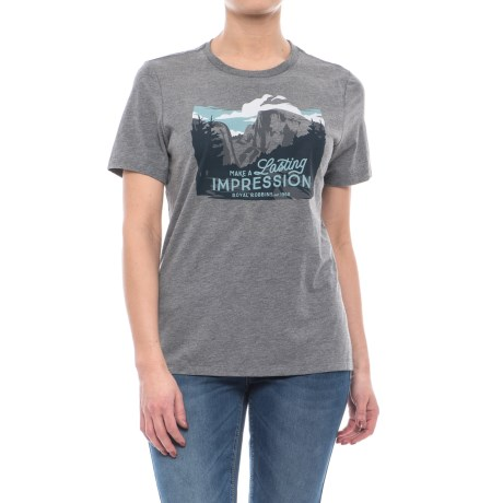 Royal Robbins Lasting Impressions T-Shirt - Short Sleeve (For Women) in Heather Grey