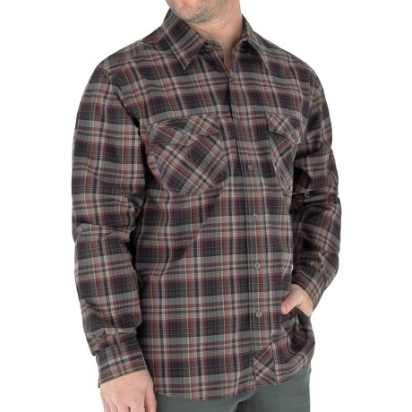 Royal Robbins Lenny Plaid Shirt - Long Sleeve (For Men) in Pewter