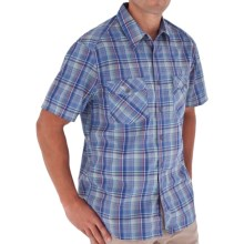 Royal Robbins Lenny Plaid Shirt - Short Sleeve (For Men) in Sky Blue - Closeouts