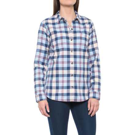 Royal Robbins Lieback Plaid Flannel Shirt - Organic Cotton, Long Sleeve (For Women) in Blue Indigo - Closeouts