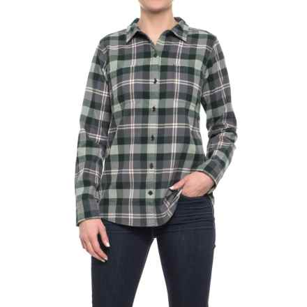 Royal Robbins Lieback Plaid Flannel Shirt - Organic Cotton, Long Sleeve (For Women) in Greengables - Closeouts