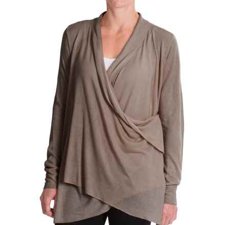 Royal Robbins Lindsey Wrap Cardigan Sweater - Rayon-Linen (For Women) in Lite Taupe - Closeouts