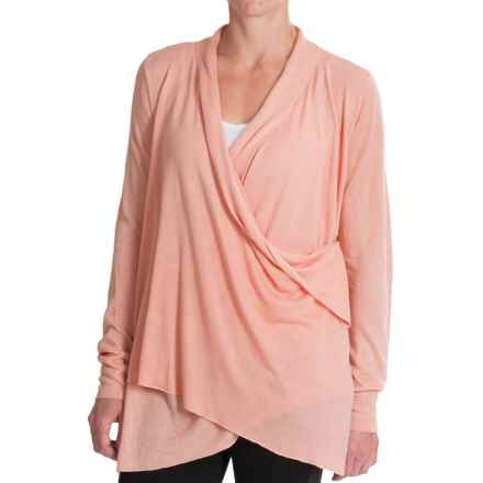 Royal Robbins Lindsey Wrap Cardigan Sweater - Rayon-Linen (For Women) in Petal Pink - Closeouts