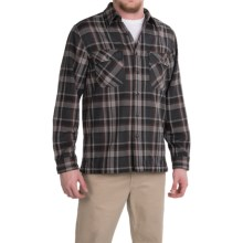 Royal Robbins Log Jam Flannel Shirt - UPF 50+, Long Sleeve (For Men) in Charcoal - Closeouts