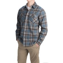 Royal Robbins Log Jam Flannel Shirt - UPF 50+, Long Sleeve (For Men) in Lagoon - Closeouts