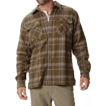 Royal Robbins Log Jam Flannel Shirt - UPF 50+, Long Sleeve (For Men) in Mangrove Green - Closeouts