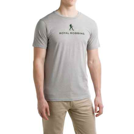 Royal Robbins Logo T-Shirt - Crew Neck, Short Sleeve (For Men) in Grey - Closeouts