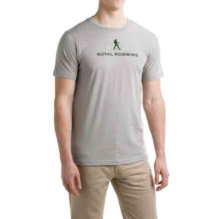 Royal Robbins Logo T-Shirt - Crew Neck, Short Sleeve (For Men) in Grey - Closeouts