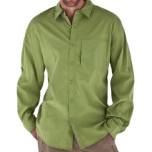 Royal Robbins Lost Canyon Shirt - UPF 50+, Roll-Up Long Sleeve (For Men) in Evergreen - Closeouts