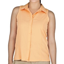Royal Robbins LT Expedition Shirt - UPF 50+, Sleeveless (For Women) in Cantaloupe