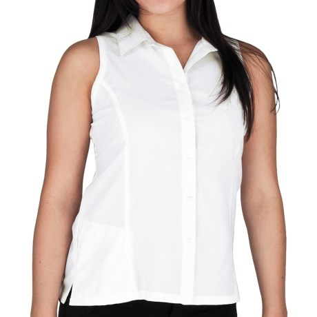 Royal Robbins LT Expedition Shirt - UPF 50+, Sleeveless (For Women) in Daffodil