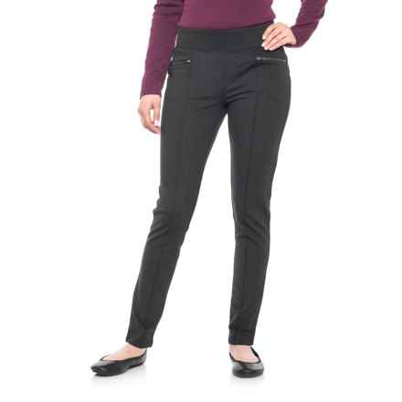 Royal Robbins Lucerne Ponte Pants - UPF 50+, Slim Leg (For Women) in Heringbone Charcoal - Closeouts