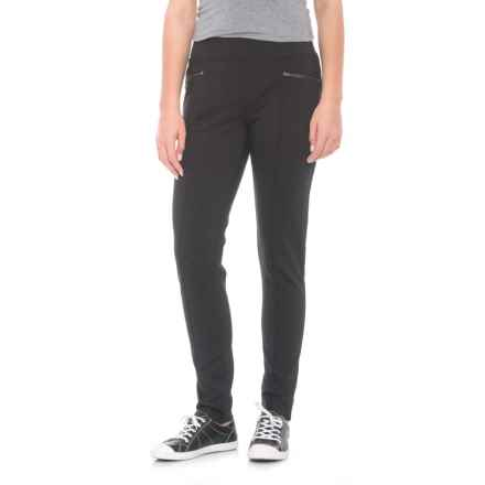 Royal Robbins Lucerne Ponte Slim Leg Pants - UPF 50+ (For Women) in Heringbone Charcoal - Closeouts