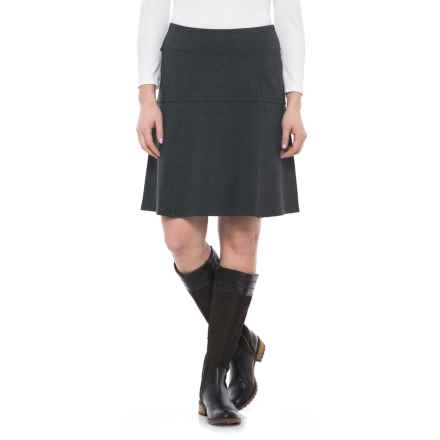 Royal Robbins Lucerne Ponte Swing Skirt - UPF 50+ (For Women) in Charcoal - Closeouts