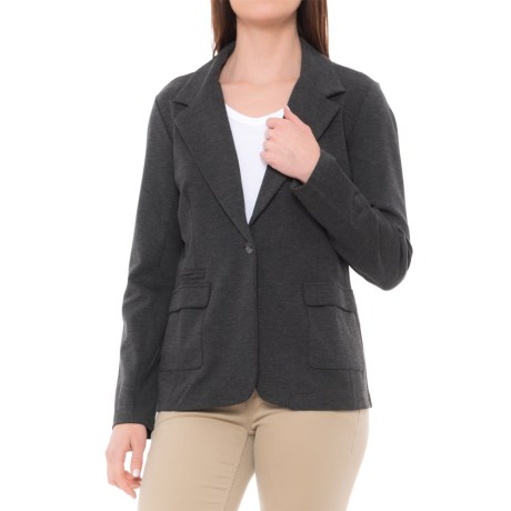 Royal Robbins Lucerne Ponte Travel Blazer (For Women) in Charcoal