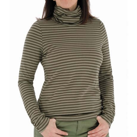Royal Robbins Lucy Stripe Turtleneck - Organic Cotton, Long Sleeve (For Women) in Stem