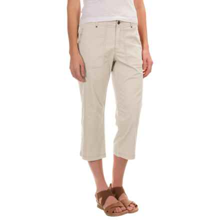 Royal Robbins Marly Capris - Stretch Cotton (For Women) in Creme - Closeouts