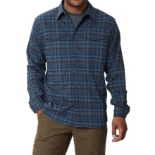 Royal Robbins Mason Stretch Flannel Shirt - UPF 50+, Long Sleeve (For Men) in Eclipse - Closeouts