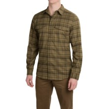 Royal Robbins Mason Stretch Flannel Shirt - UPF 50+, Long Sleeve (For Men) in Fatigue Green - Closeouts