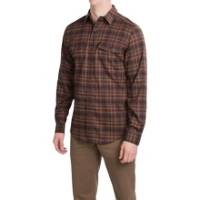 Royal Robbins Mason Stretch Flannel Shirt - UPF 50+, Long Sleeve (For Men) in Walnut - Closeouts