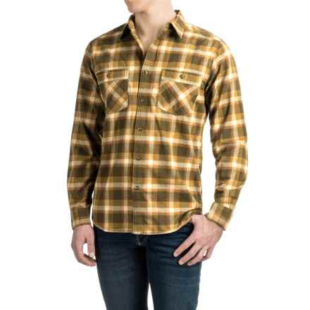 Royal Robbins Merced Plaid Flannel Shirt - UPF 50+, Long Sleeve (For Men) in Mangrove Green - Closeouts