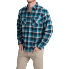 Royal Robbins Merced Plaid Shirt - UPF 50+, Long Sleeve (For Men) in Lunar Blue - Closeouts