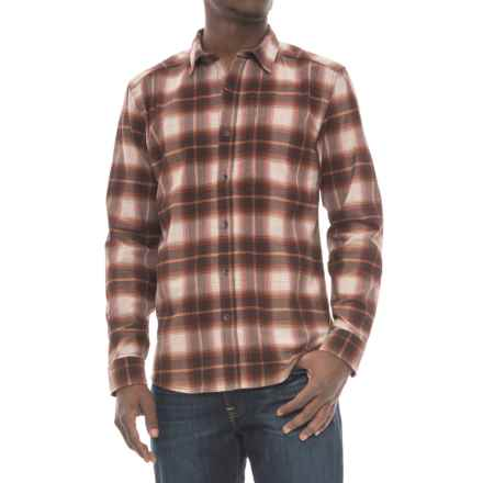 Royal Robbins MerinoLux Flannel Shirt - UPF 50+, Long Sleeve (For Men) in Red Rock - Overstock