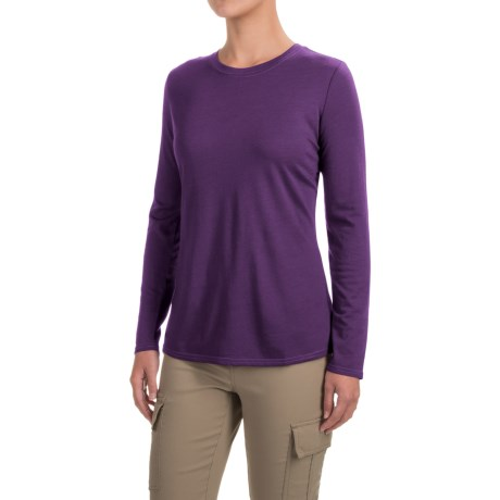 Royal Robbins Merinolux Go Everywhere Shirt - UPF 50+, Long Sleeve (For Women) in Dark Violet