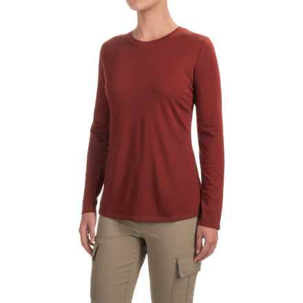 Royal Robbins Merinolux Go Everywhere Shirt - UPF 50+, Long Sleeve (For Women) in Ruby - Closeouts