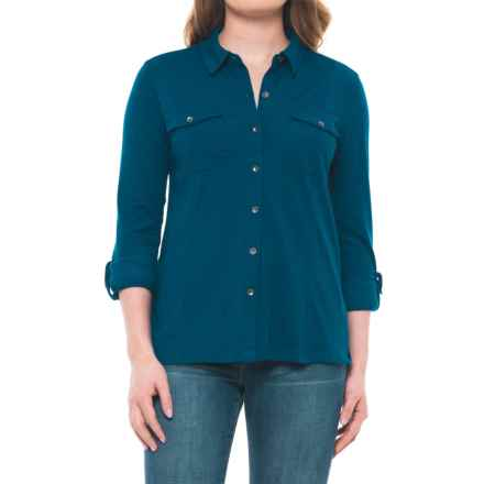 Royal Robbins MerinoLux Traveler Shirt - Long Sleeve (For Women) in Poseidon - Closeouts