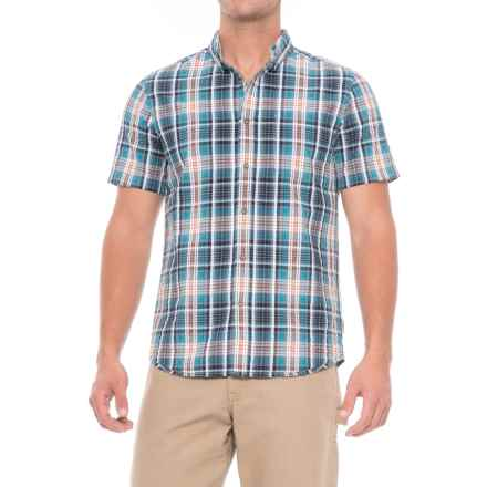 Royal Robbins Mid-Coast Seersucker Plaid Shirt - Short Sleeve (For Men) in Deep Blue - Closeouts