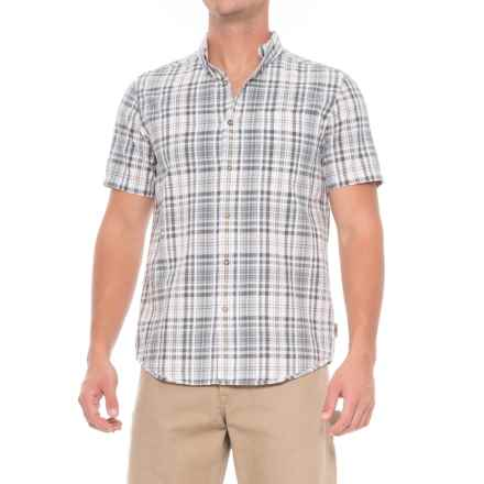 Royal Robbins Mid-Coast Seersucker Plaid Shirt - Short Sleeve (For Men) in Pewter - Closeouts