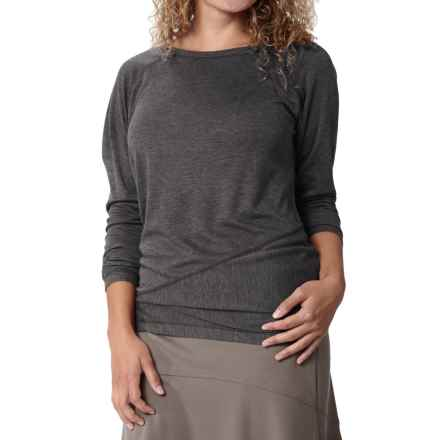 Royal Robbins Mission Knit Shirt - Long Sleeve (For Women) in Charcoal - Closeouts