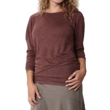 Royal Robbins Mission Knit Shirt - Long Sleeve (For Women) in Merlot - Closeouts