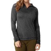 Royal Robbins Mission Knit Shirt - Zip Neck, Long Sleeve (For Women) in Charcoal - Closeouts