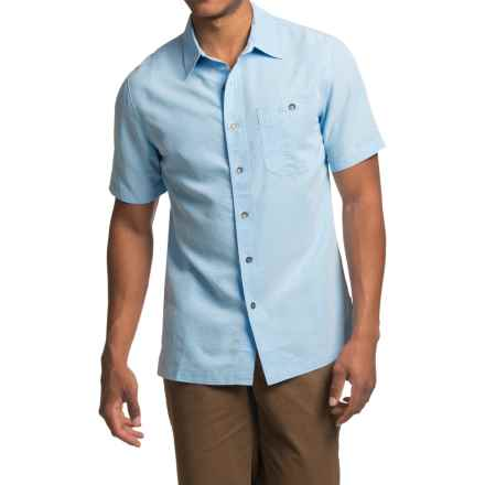 Royal Robbins Mojave Desert Pucker Shirt - UPF 25+, Short Sleeve (For Men) in Blue Chill - Closeouts