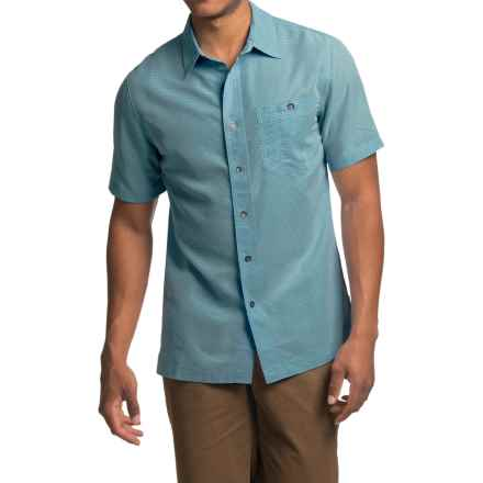 Royal Robbins Mojave Desert Pucker Shirt - UPF 25+, Short Sleeve (For Men) in Phoenix Blue - Closeouts