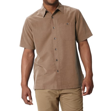 Royal Robbins Mojave Desert Pucker Shirt - UPF 25+, Short Sleeve (For Men) in Walnut
