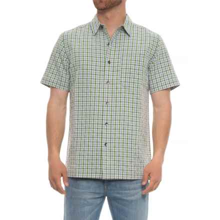 Royal Robbins Mojave Pucker Plaid Shirt - UPF 50+, Short Sleeve (For Men) in Ivy - Closeouts