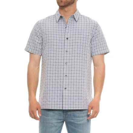 Royal Robbins Mojave Pucker Plaid Shirt - UPF 50+, Short Sleeve (For Men) in Pewter - Closeouts
