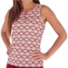 Royal Robbins Mosaic Button Tank Top - Organic Cotton (For Women) in Dark Crimson - Closeouts