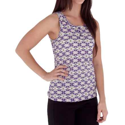 Royal Robbins Mosaic Button Tank Top - Organic Cotton (For Women) in Dark Violet - Closeouts