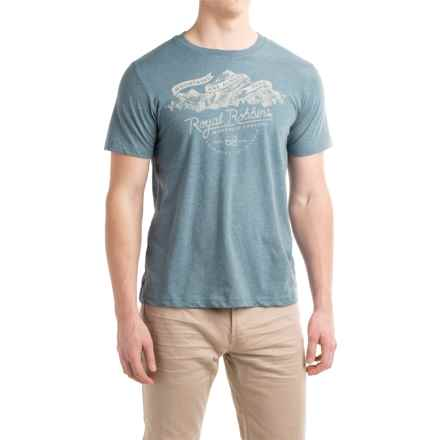 Royal Robbins Mountains Are Free T-Shirt - Crew Neck, Short Sleeve (For Men) in Slate - Closeouts
