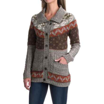 Royal Robbins Mystic Button Cardigan Sweater (For Women) in Light Taupe - Closeouts