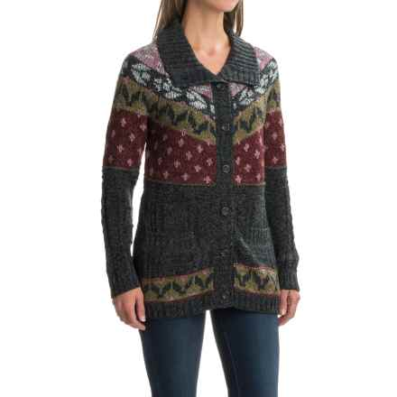 Royal Robbins Mystic Button Cardigan Sweater (For Women) in Obsidian - Closeouts