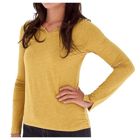 Royal Robbins Nabru Shirt - Slub Stretch Rayon, Long Sleeve (For Women) in Husk