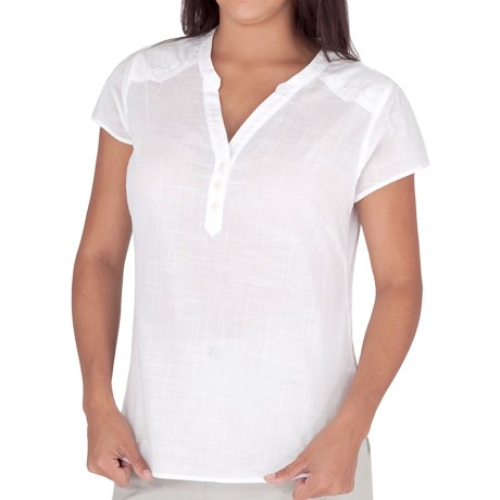Royal Robbins Naja Embroidered Shirt - Short Sleeve (For Women) in White